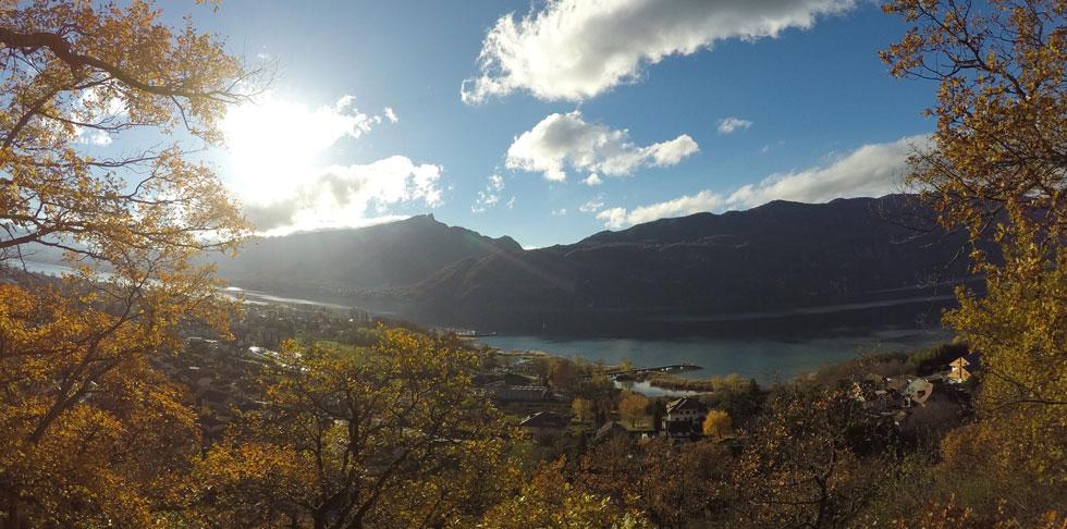 automne aix les bains lac